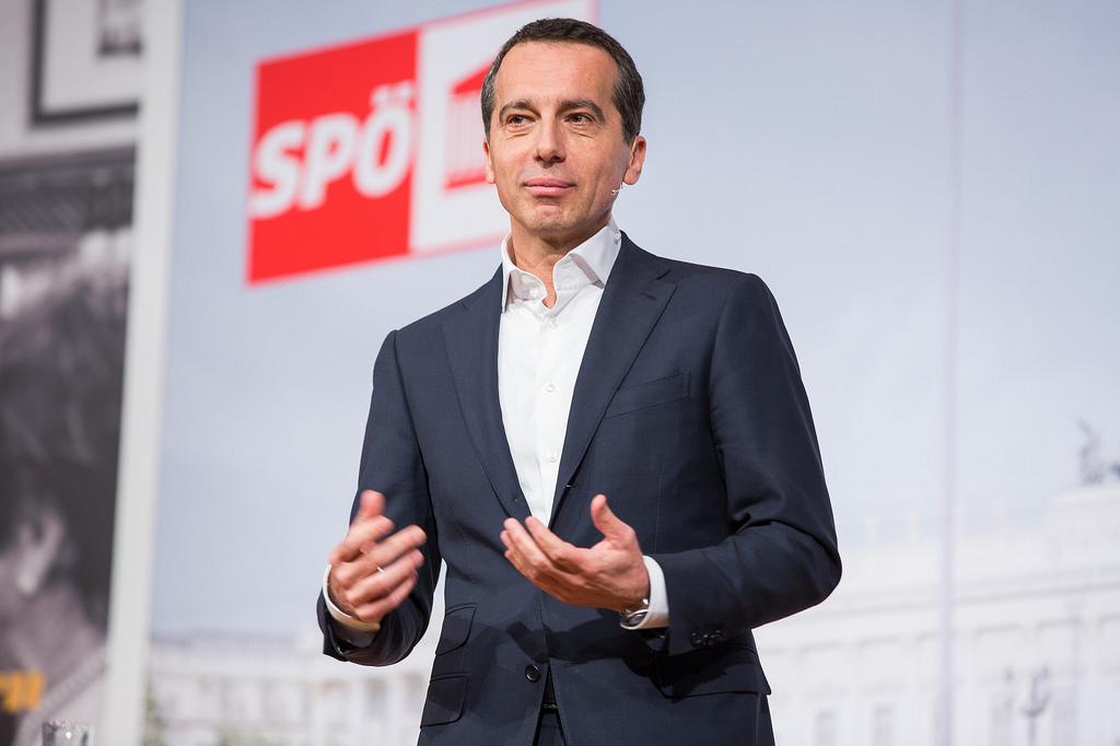 Lead Candidate of the SPÖ and Chancellor of Austria, Christian Kern. Source: Flickr
